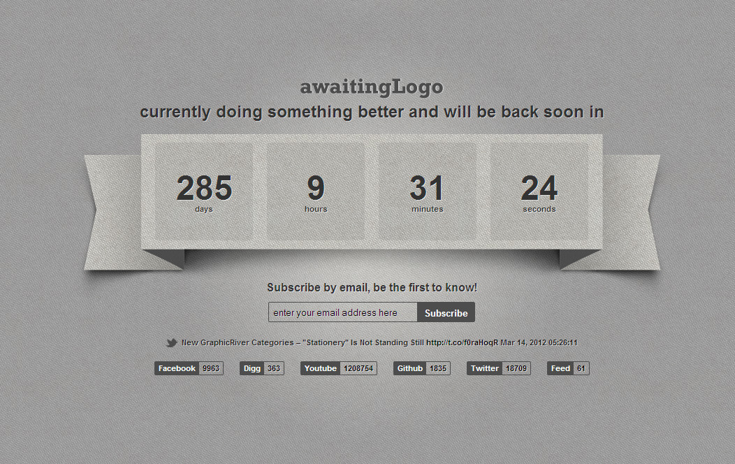 Awaiting - Responsive Under Construction Template -