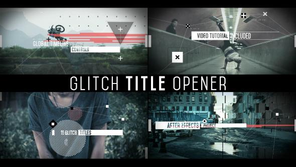 VideoHive Glitch Title Opener 19597509