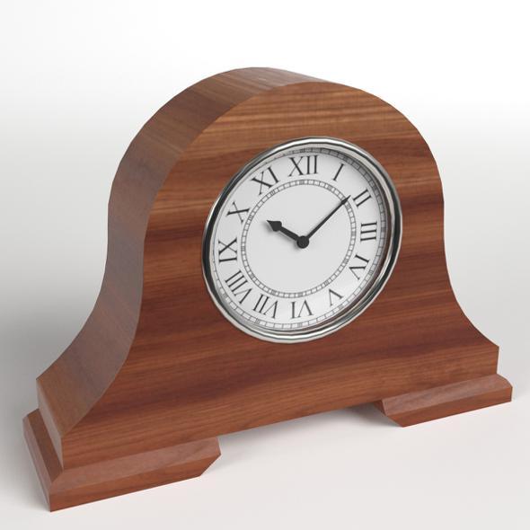 Fireside Clock 1 - 3DOcean Item for Sale