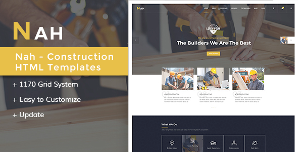 Nah Multipurpose Construction Drupal 8 (Drupal) Nah Multipurpose Construction Drupal 8 (Drupal) preview