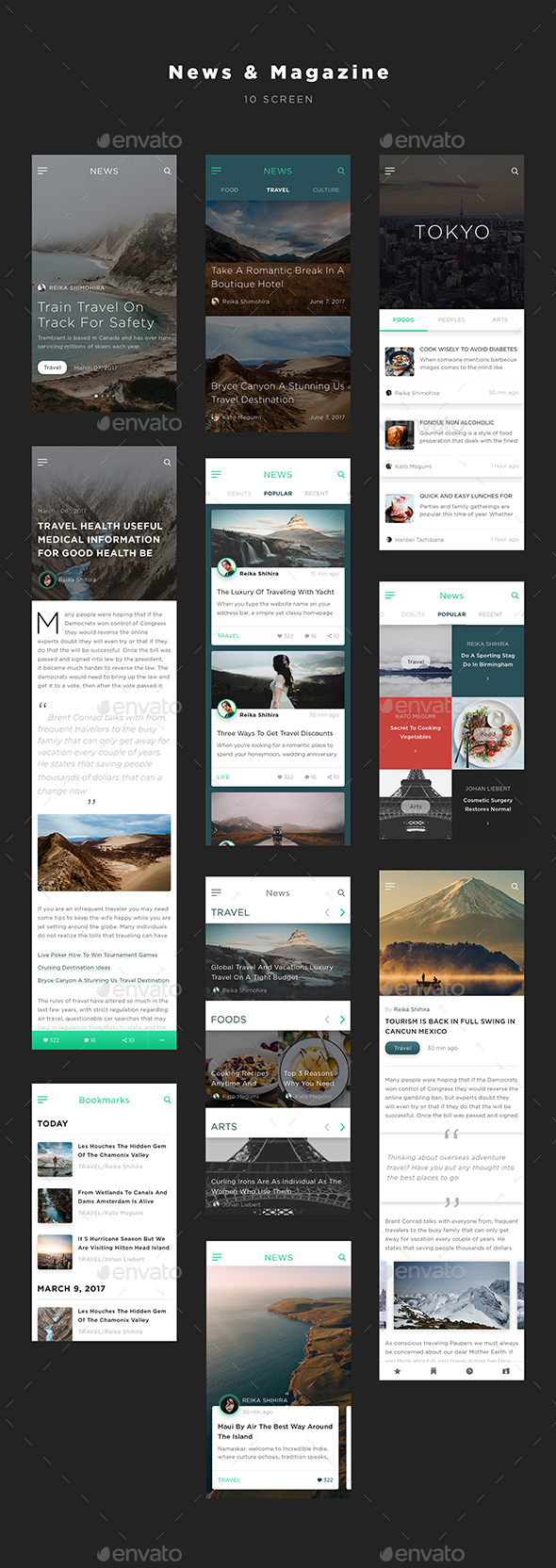 Mugen App UI KIT – News & Magazine (User Interfaces)