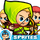 Arhers 2D Game Sprites Set