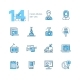 Mass Media - Modern Single Line Icons Set