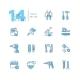 Tools - Coloured Modern Single Line Icons Set