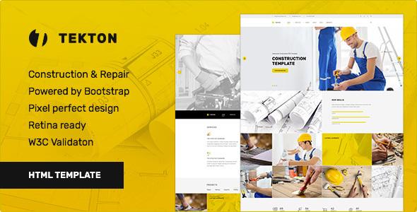 Tekton - Construction & Repair / Business Responsive HTML Template