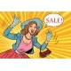 Retro Lady Enjoys the Sale