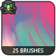 25 Streaky Artistic Brushes
