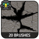 Cracks - 20pcs. Brush Set