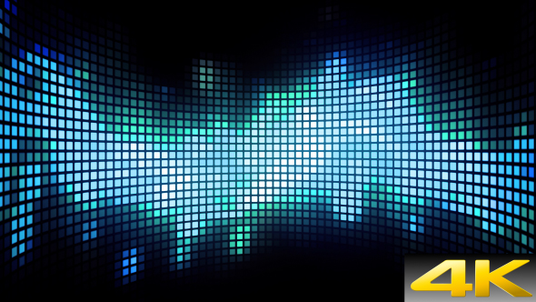 VideoHive Cyan Curved Dance Light Box 19601747