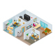 Isometric Open Plan Office