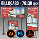 Construction Billboard Signage Rollup Template