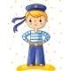 Young Sailor Cartoon Character
