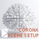 Corona studio scene setup