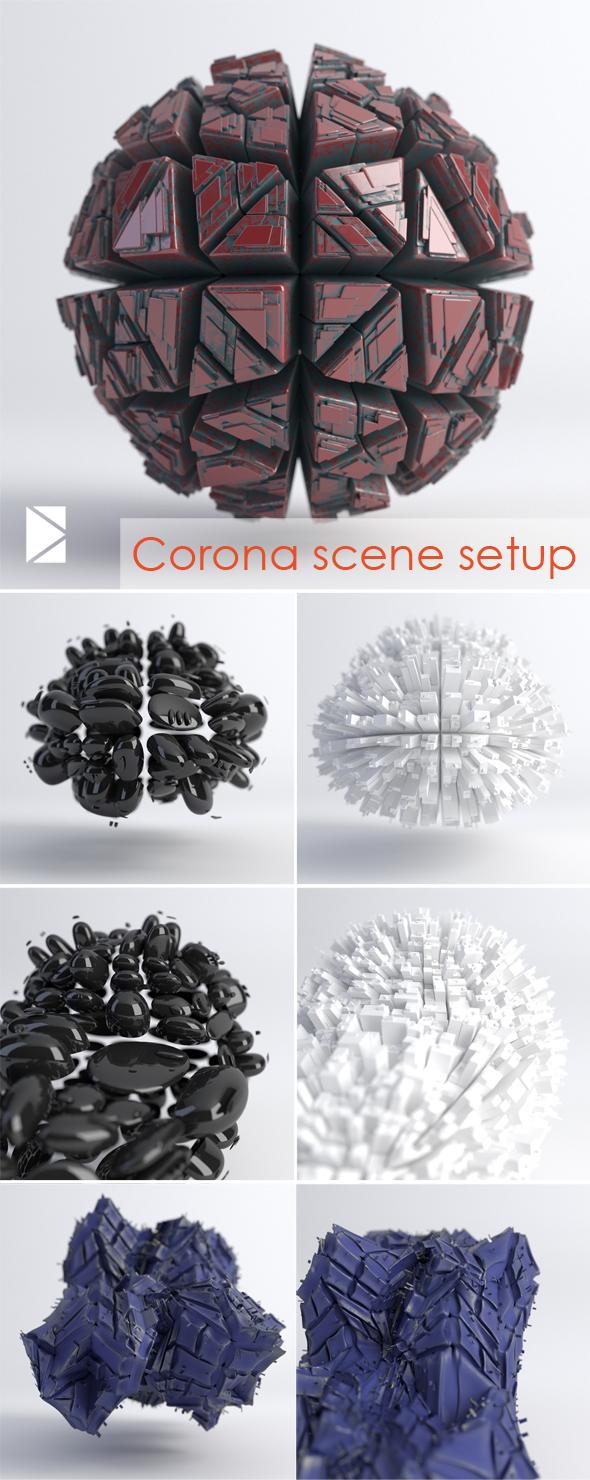 Corona studio scene setup - 3DOcean Item for Sale