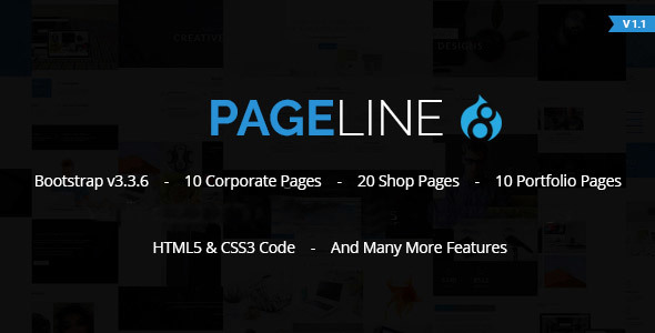 PageLine - Bootstrap Based Multi-Purpose HTML5 Drupal 8 Theme