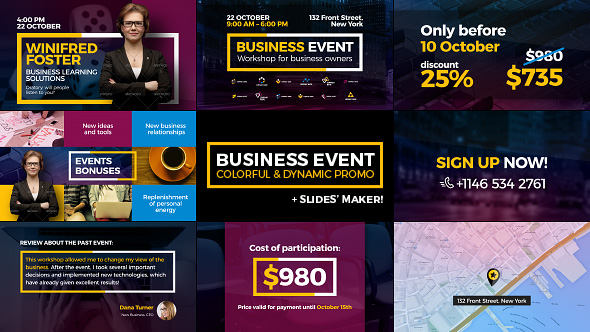 VideoHive Business Event Colorful And Dynamic Promo 19603334