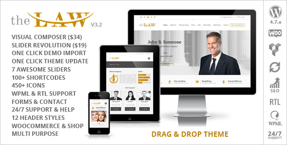 The Law - Lawyer Theme + RTL