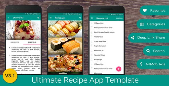 Ultimate Recipe App Template - CodeCanyon Item for Sale