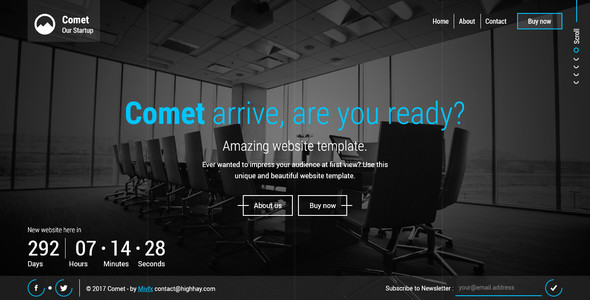 Download Comet - Beautiful Creative Template for Coming Soon Page