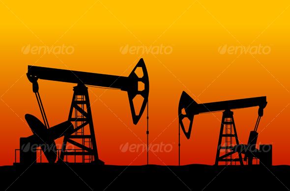Graphic River Oilfields Vectors -  Conceptual  Business  Industries 74296