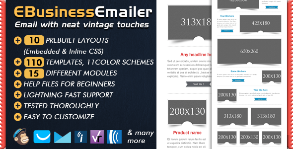 Business Email Marketing Templates - EBusiness Email Newsletter