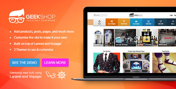 GeekShop - Geeky Cool Product Site - CodeCanyon Item for Sale