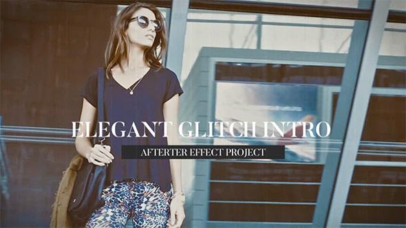VideoHive Elegant Glitch Intro 19605053