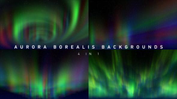 VideoHive Aurora Borealis Backgrounds 4 in 1 19606669