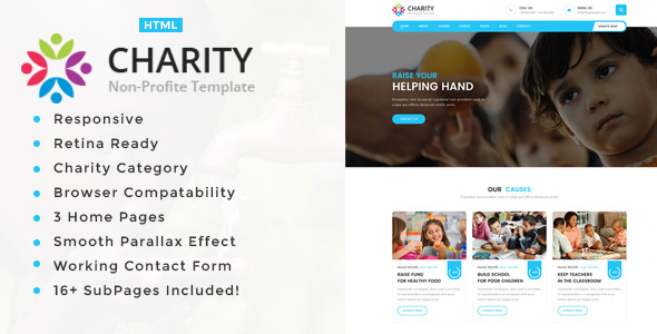 Image of Charity Non-Profit HTML5 Template