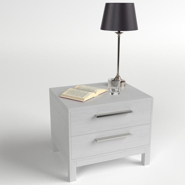 Bedside Table Set 3 - 3DOcean Item for Sale