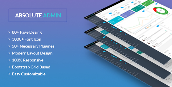 Absolute - Bootstrap Admin/Dashboard Template