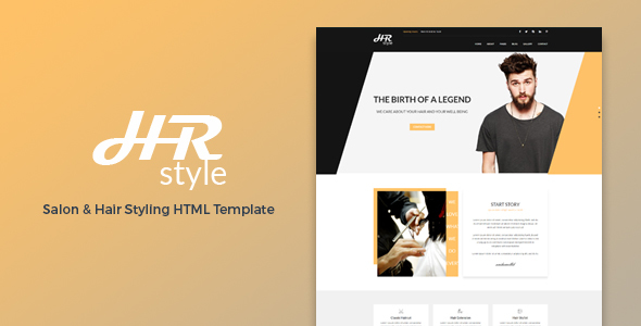 HR style - Salon & Hair Styling HTML Template