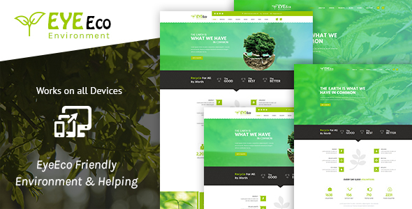 EyeEco Friendly Environmental Nature Ecology Template
