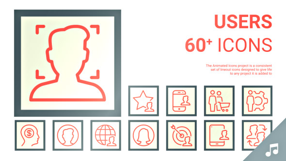 VideoHive User People Person Animated Icon Set 19608246