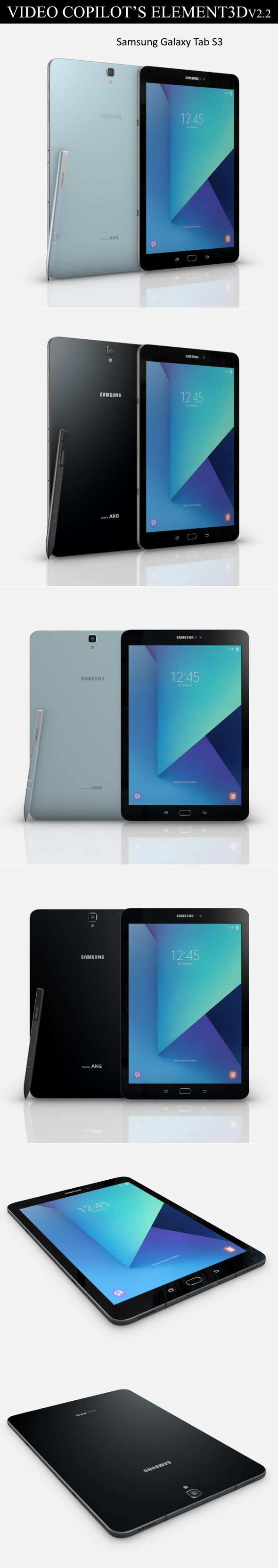 Element3D - Samsung Galaxy Tab S3 - 3DOcean Item for Sale
