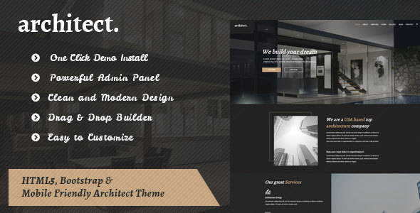 Download Architect - Bootstrap Template for Architecture