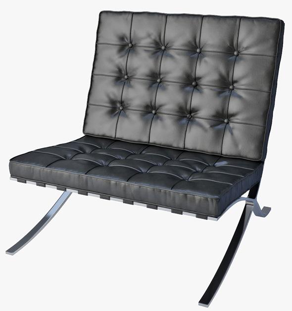 3DOcean Barcelona chair Knoll 19609110