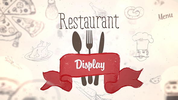VideoHive Restaurant Display 19609402