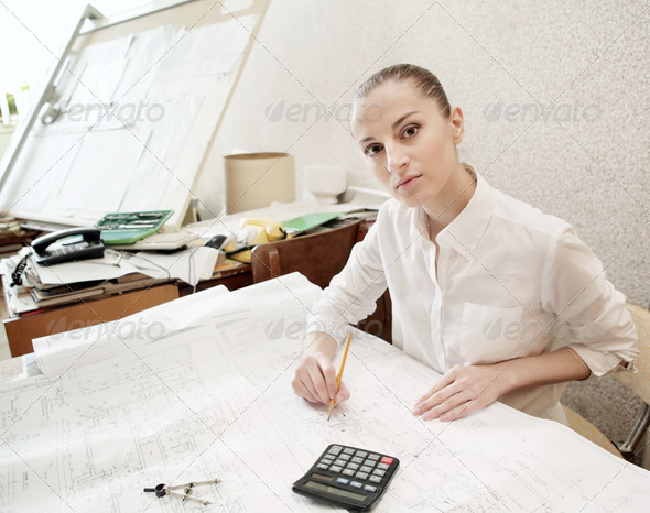 Young architect - Stock Photo - Images