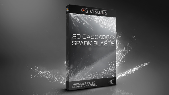 VideoHive 20 Cascading Spark Blasts 19610515