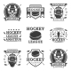 Hockey Set of Vector Vintage Logos