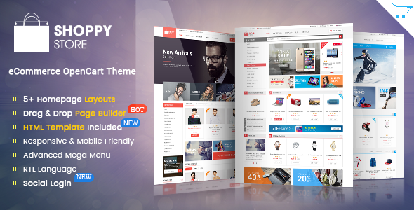 Best-selling OpenCart eCommerce Themes Upgraded to OpenCart 2.3 - 40 ...