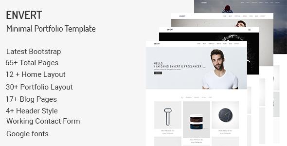 Envert - Minimal Portfolio Template