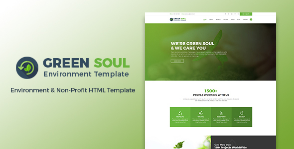 Green Soul - Environment & Non-Profit HTML Template