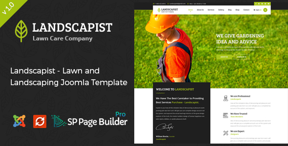 Download Landscapist - Lawn & Landscaping Joomla Template