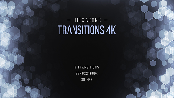 VideoHive Hexagons Transitions 19612733