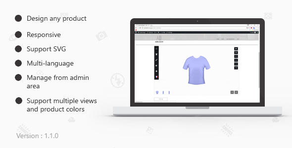 Custom products designer for woocommerce
