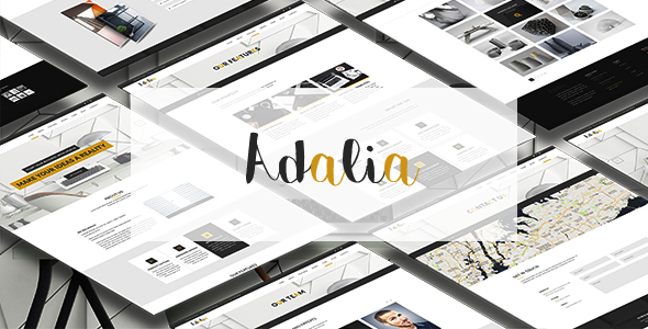 Adalia - Multi & One Pages Modern PSD Template