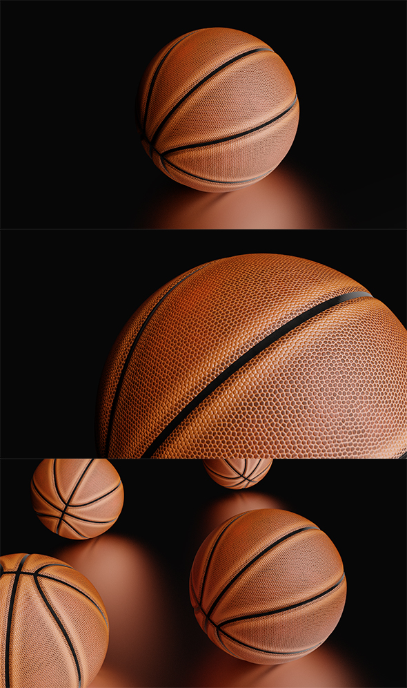 High Detailed Basketball Ball - 3DOcean Item for Sale