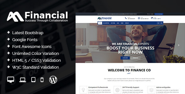 Financial – Finance & Business WordPress Theme (Business) images
